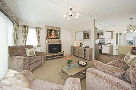 The beautifully presented lounge in the Superior holiday home