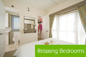 The beautifully presented master bedroom in the Superior holiday home